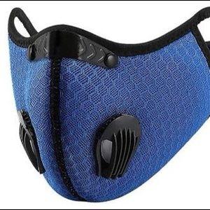 NEW‼️UNISEX BLUE 2 valve head wrap face - mask